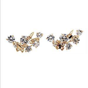 Mini butterflies crystal earrings